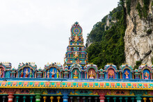 Hinduism Architecture And Statue Of Batu Caves - One Of The Most Popular Hindu Shrines Outside India, And Is Dedicated To Lord Murugan In Kuala Lumpur, Malaysia