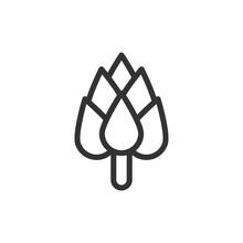 Outline Design Of Hop Icon.