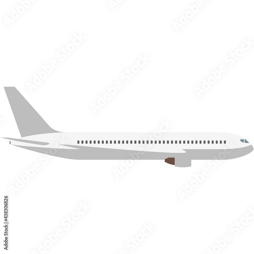 Papel de parede Plane vector icon travel airplane isolated illustration