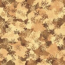 Desert Seamless Camo Graphic Print. Autumn Camouflage Seamless Pattern