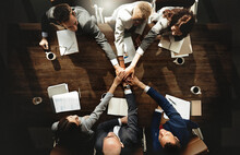 Business People Are Joining Hands Together