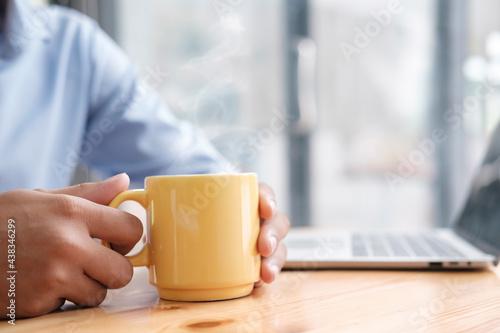 Relax take a coffee break from work. Fototapet