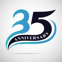35th Years Anniversary Celebration Template Design.
