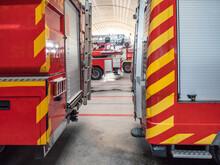 Fleet Of Emergency Vehicles In Fire Department