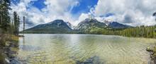 Grand Teton Mountains And A Lake