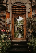 Green Plants Near Ornamental Arch