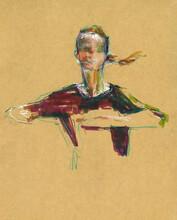 Watercolor Of Woman Performing Dance Poses