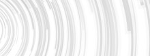 Gray Circular Lines Abstract Futuristic Technology Banner Design. Vector Background