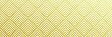 Gold Pattern Background. Vector Seamless Golden Geometric Christmas Pattern Texture. Luxury Holiday Paper Wrapping Design.