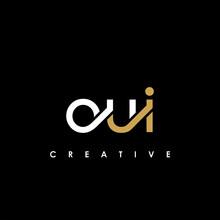 OUI Letter Initial Logo Design Template Vector Illustration