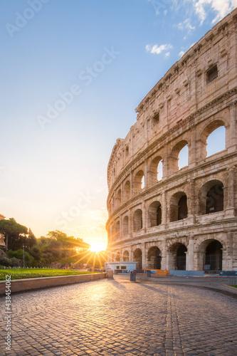 Colosseum in Rome at sunrise #438454062
