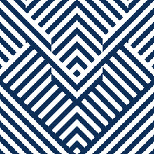 Abstract Seamless Pattern With Blue White Striped Lines