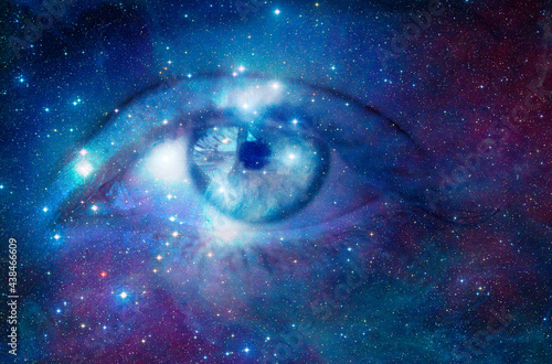 Obraz na plátně eye looking into the universe