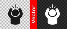 Black Anger Icon Isolated On Transparent Background. Anger, Rage, Screaming Concept. Vector