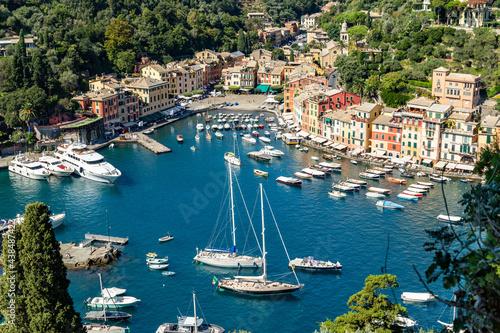 Yacht harbour of Portofino, Genoa, Italy #438487422