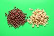 Leinwandbild Motiv Tasty cereals on color background