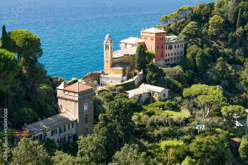 Summer vacation at a luxury villa in Portofino, Genoa, Italy #438493068