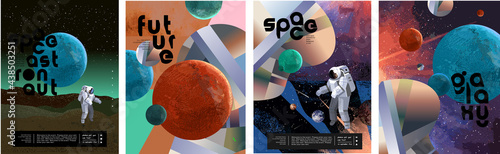 Fotografie, Tablou Space, astronaut and galaxy