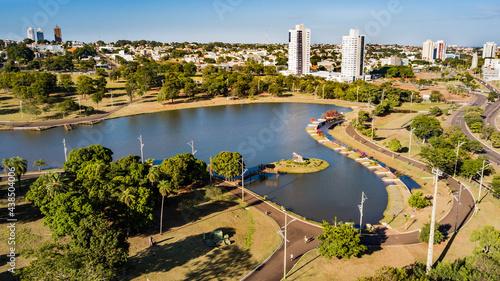 Obraz na plátne Aerial view of the Parque das Nações Indígenas