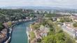 Aerial view Lyon France