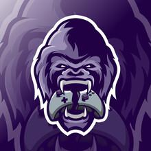 Gorilla Mascot Esport Logo