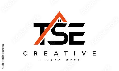 Canvas-taulu TSE letters real estate construction logo vector