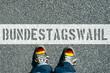 Leinwandbild Motiv Deutschland und die Bundestagswahl