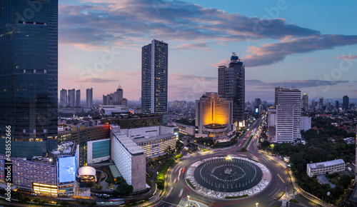 Hotel Indonesia roundabout. this statue is also a welcome statue of indonesia.