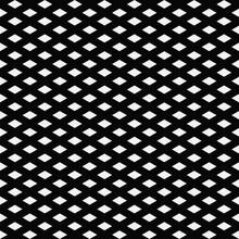 Diagonal Mesh Pattern. Vector Seamless Decoratice Black Grid.
