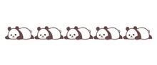 寝そべるパンダのライン