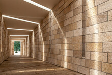 Walls Of A Museum Tunnel Located In Miami Beach