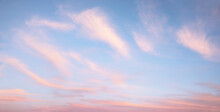 Dreamy Sunset Background Pink And Blue In Pastel Colors