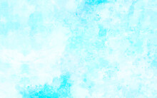 Retro Soft Blue And White Grunge Texture. Rough Heaven Sky Distressed Background Painting With Distressed Splash And Spots Texture
