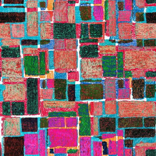 Tapety Futurystyczne  kreatywny-wzor-z-kolorowymi-abstrakcyjnymi-elementami-geometrycznymi-recznie-rysowane-tekstury-graficzny-streszczenie-tlo-sztuka-wspolczesna-modny-nowoczesny-styl