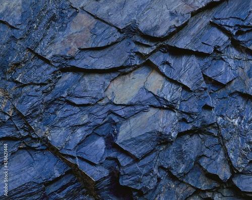 Fotografiet rock, shale, new zealand, south island, stone, blue, grey, bluish, geology, rock