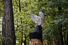Statue Chouette Ailes Ouvertes