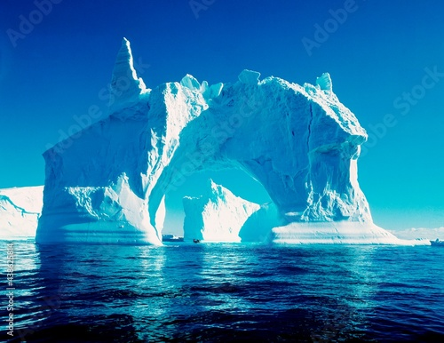 Fotografering antarctica, sea, icebergs, arctic peninsula, south pole, southern ocean, waters,