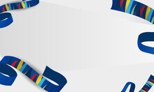 Sports Background With Ribbons Winter Sport Competitions, Winter Sports, Vector Illustration