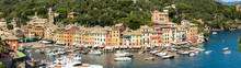 Colorful Houses At The Harbour In Portofino, Genoa, Italy