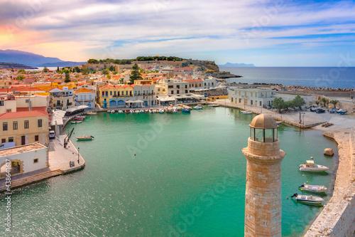 Canvastavla Old Venetian harbor of Rethimno, Crete, Greece