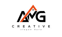 AMG Letters Real Estate Construction Logo Vector