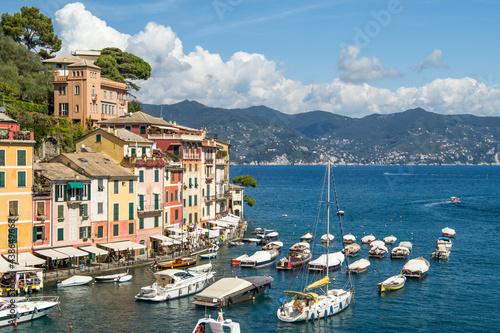 Portofino harbour in summer, Genoa, Italy #438649668