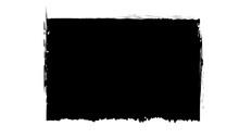 Grunge Rectangular Shape Made Of Black Paint.Grunge Postmark Isolated On The White Background.