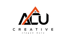 ACU Letters Real Estate Construction Logo Vector