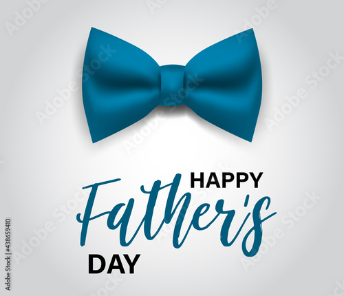 Fotografie, Obraz Fathers Day banner with lettering and blue tie bow