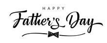 Happy Father's Day Black & White Design