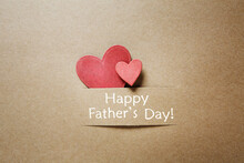 Happy Father's Day Design With Two Harts