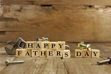Happy Father's Dat Wooden Letters