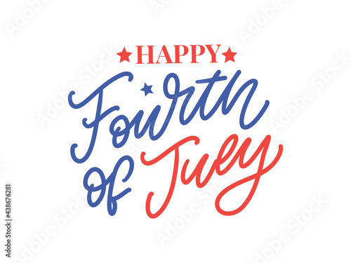 Fourth 4 of July stylish american independence day design Fourth of July Fototapet