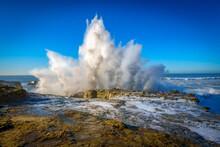 Waves Crashing In Santa Cruz